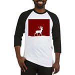 Deer in the snow Baseball Jersey