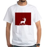Deer in the snow White T-Shirt