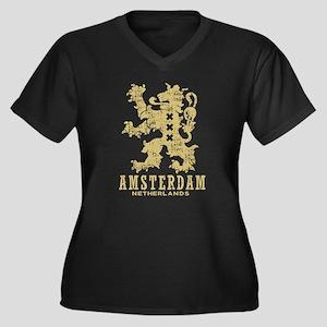 Amsterdam Netherlands Women's Plus Size V-Neck Dar