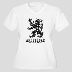 Amsterdam Netherlands Women's Plus Size V-Neck T-S