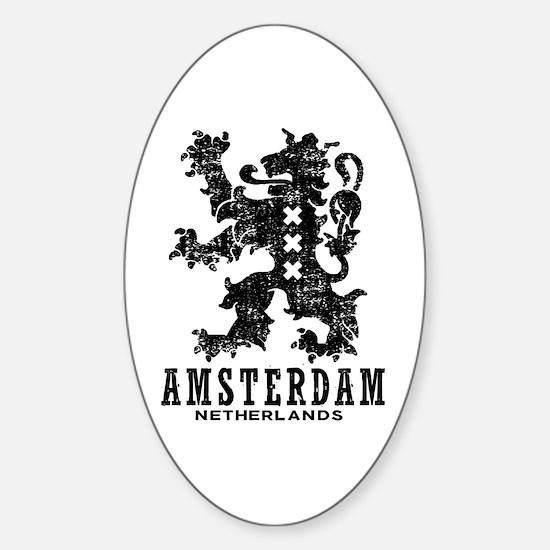 Amsterdam Netherlands Sticker (Oval)
