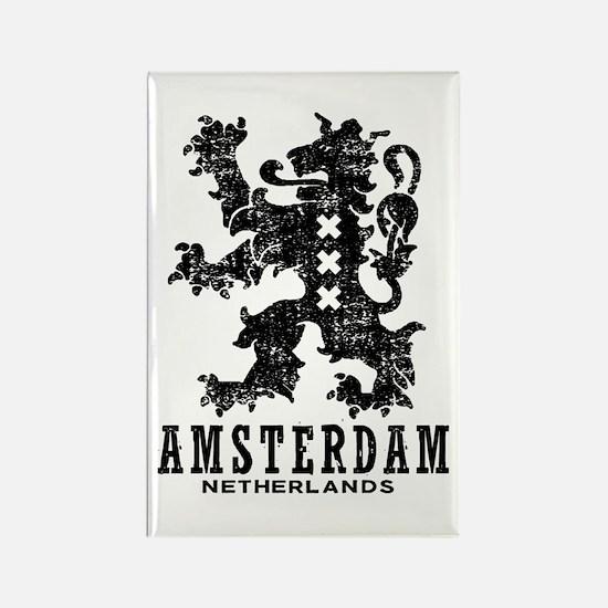 Amsterdam Netherlands Rectangle Magnet