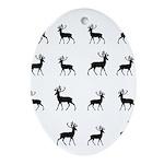 Deer silhouette pattern Ornament (Oval)