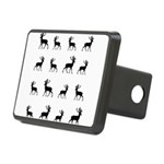 Deer silhouette pattern Rectangular Hitch Cover