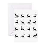 Deer silhouette pattern Greeting Cards (Pk of 20)