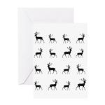 Deer silhouette pattern Greeting Card