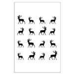 Deer silhouette pattern Large Poster