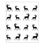 Deer silhouette pattern Small Poster