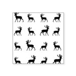Deer silhouette pattern Square Sticker 3