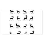 Deer silhouette pattern Sticker (Rectangle 10 pk)
