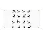Deer silhouette pattern Banner