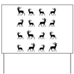 Deer silhouette pattern Yard Sign