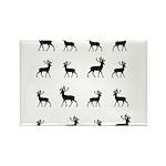 Deer silhouette pattern Rectangle Magnet (100 pack