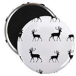 Deer silhouette pattern Magnet