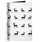 Deer silhouette pattern Journal
