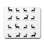 Deer silhouette pattern Mousepad
