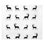 Deer silhouette pattern King Duvet