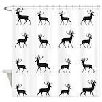 Deer silhouette pattern Shower Curtain