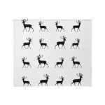 Deer silhouette pattern Throw Blanket