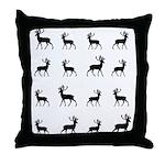 Deer silhouette pattern Throw Pillow