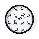 Deer silhouette pattern Wall Clock