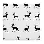Deer silhouette pattern Tile Coaster