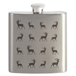 Deer silhouette pattern Flask