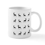 Deer silhouette pattern Mug