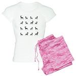 Deer silhouette pattern Women's Light Pajamas