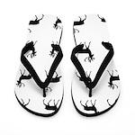 Deer silhouette pattern Flip Flops