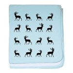 Deer silhouette pattern baby blanket