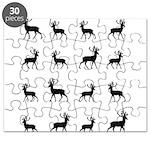 Deer silhouette pattern Puzzle