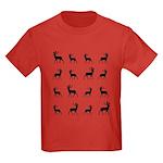 Deer silhouette pattern Kids Dark T-Shirt