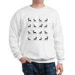 Deer silhouette pattern Sweatshirt