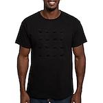 Deer silhouette pattern Men's Fitted T-Shirt (dark
