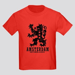 Amsterdam Netherlands Kids Dark T-Shirt