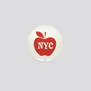 New York CIty Big Red Apple Mini Button