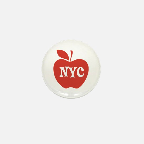 New York CIty Big Red Apple Mini Button
