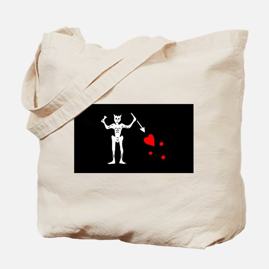 Blackbeard Flag Tote Bag