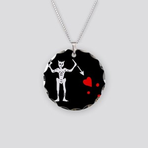Blackbeard Flag Necklace Circle Charm