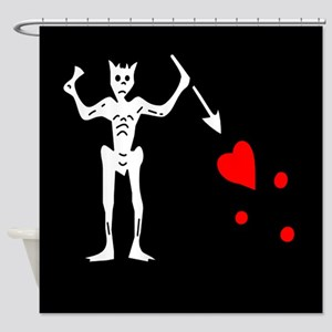 Blackbeard Flag Shower Curtain