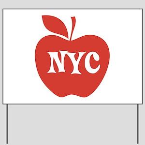 New York CIty Big Red Apple Yard Sign