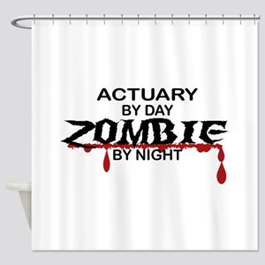 Actuary Zombie Shower Curtain