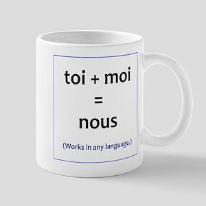 toi + moi = nous Mug