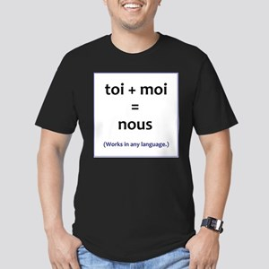 toi + moi = nous Men's Fitted T-Shirt (dark)