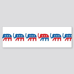 Republican GOP Party Elephant Sticker (Bumper)