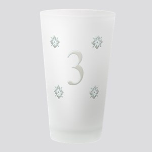 number3 Frosted Drinking Glass