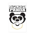crunkpanda Sticker (Rectangle 10 pk)