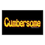 cumbersome.oval.sticker Sticker (Rectangle 10 pk)