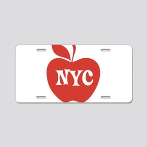 New York CIty Big Red Apple Aluminum License Plate